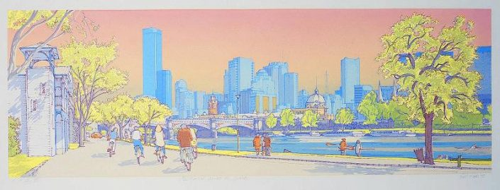 Bill Walls - Melbourne Across the Yarra
