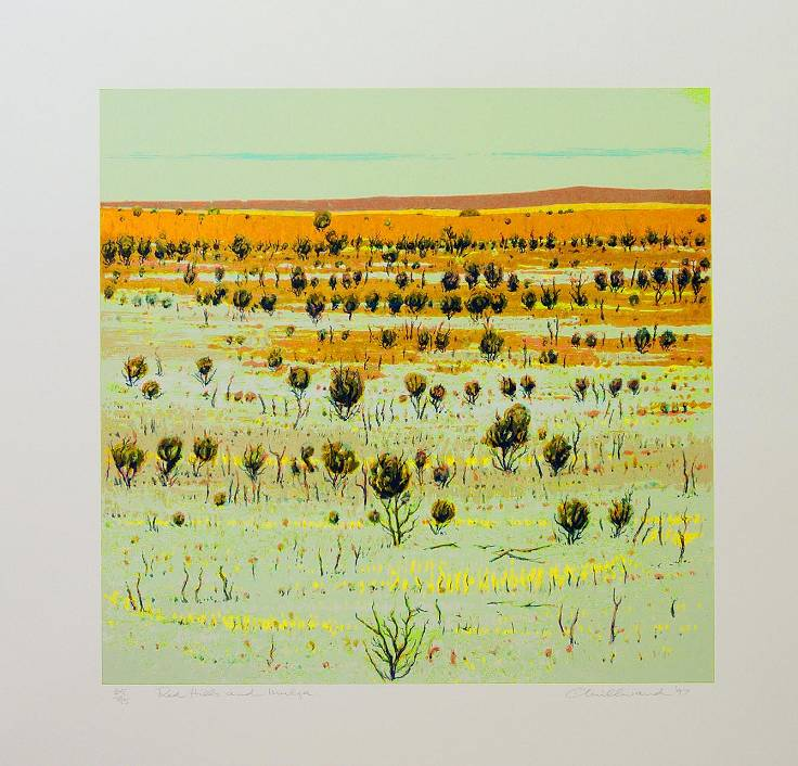Clem Millward  - Red Hillside and Mulga