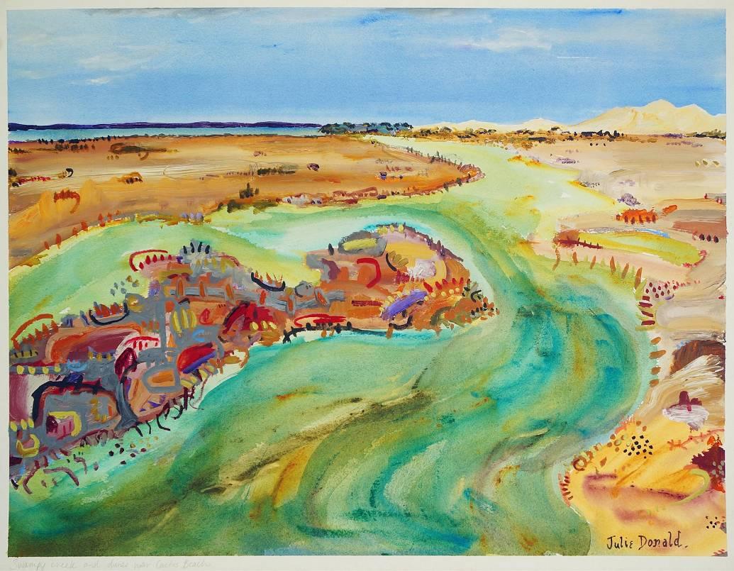 Julie Donald - Swampy Creek and dunes near