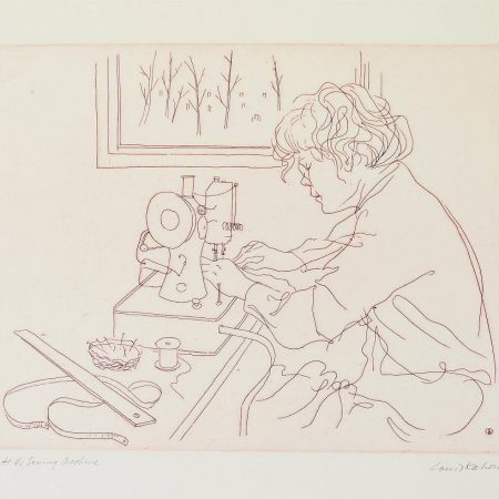 Louis Kahan - At the Sewing Machine