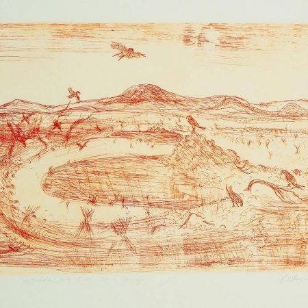 Arthur Boyd - waterhole with birds