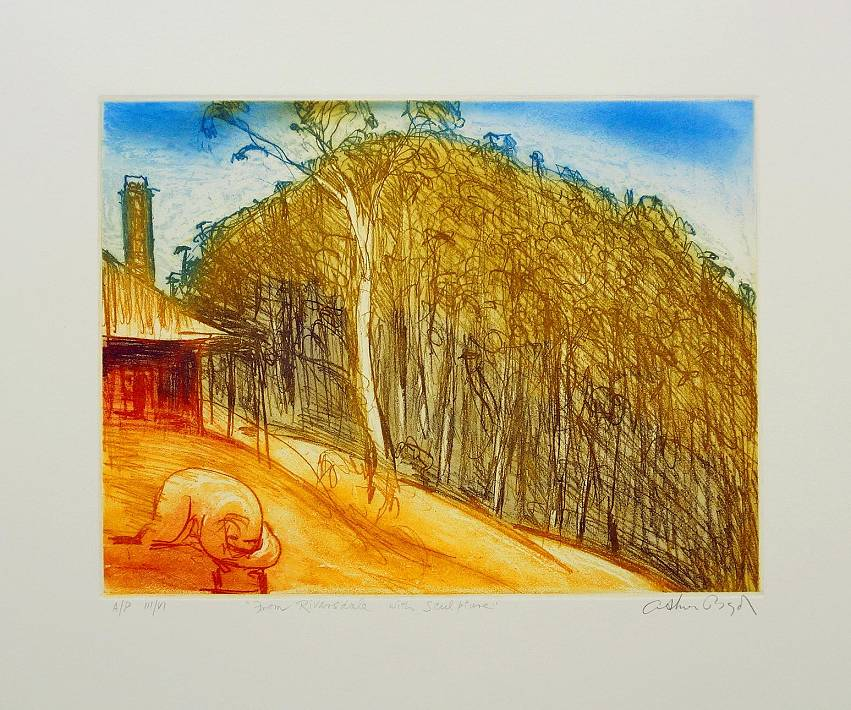 Arthur Boyd  - From Riversdale with Sculpture
