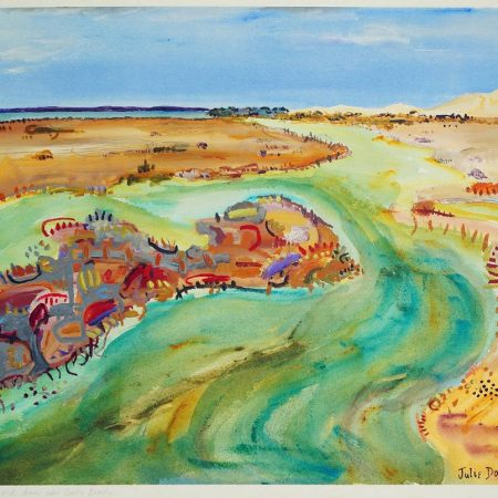 Julie Donald - Swampy Creek and dunes near