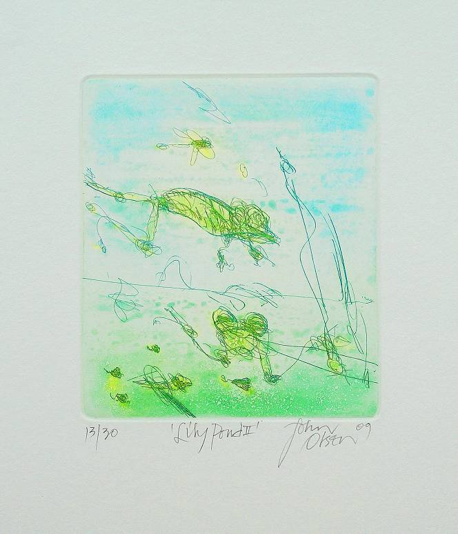 John OLSEN - Lily Pond ll
