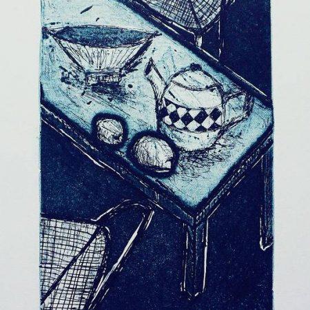 Susan Baran - Bowl teapot and lemons